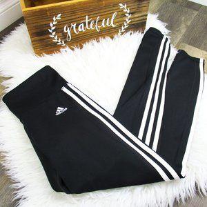 🆕 Adidas Climalite three-stripe leggings black S
